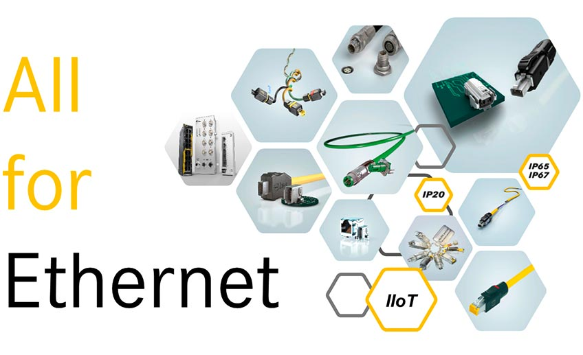 """Unter dem Claim """"All for Ethernet"""" setzt HARTING neue Standards für industrielle Netzwerke"""