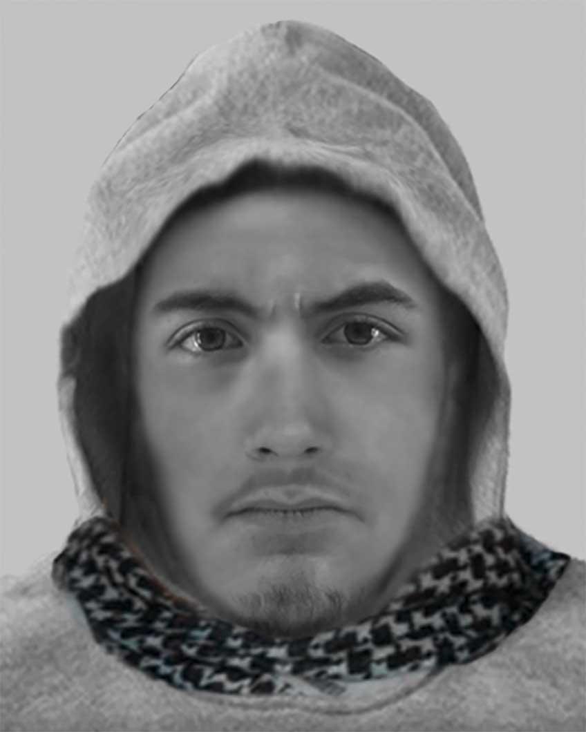 Der abgebildete Mann steht unter Verdacht in Minden zwei Überfälle begangen zu haben.