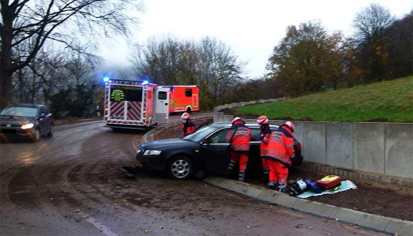 Der Audi-Fahrer kam aus bisher unbekannten Gründen von der Fahrbahn ab.
