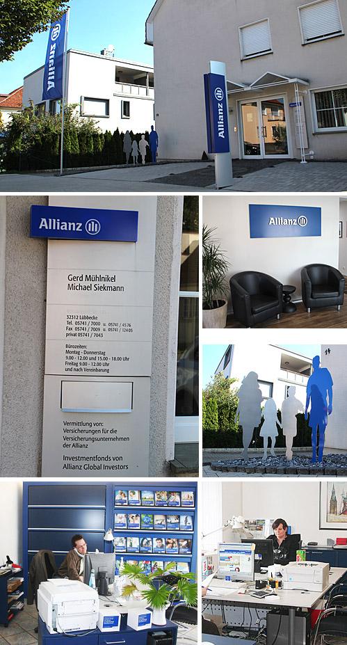 Die Bürogemeinschaft mit Gerd Mühlnikel und Michael Siekmann hat nur einen Versicherungspartner: die Allianzgruppe.
