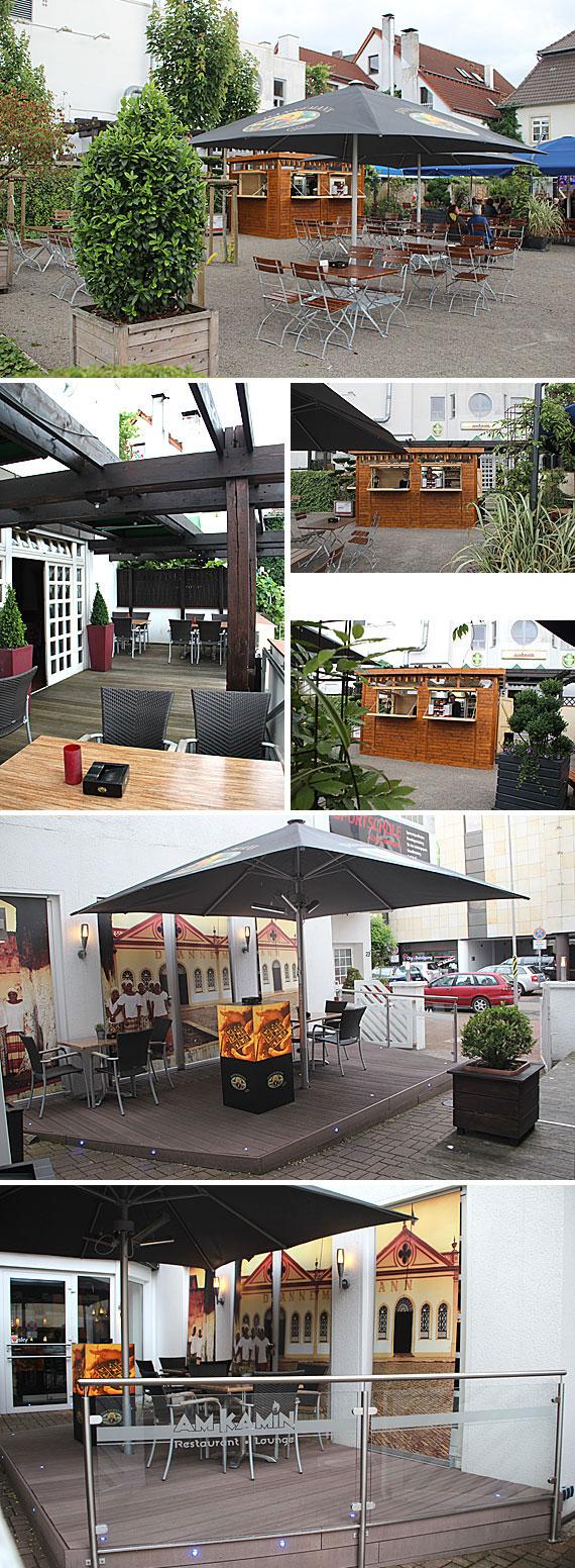 Pünktlich zur Sommersaison 2014 ist auch der neue Biergarten im Bereich des Alten Amtsgerichtes/Bürgerhaus fertig geworden.