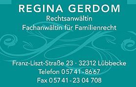 Scheidung, Unterhalt oder Streit über das Sorgerecht: Wer in diesen Fragen rechtlichen Rat und Beistand benötigt, hat in Regina Gerdom eine professionelle Juristin an seiner Seite.