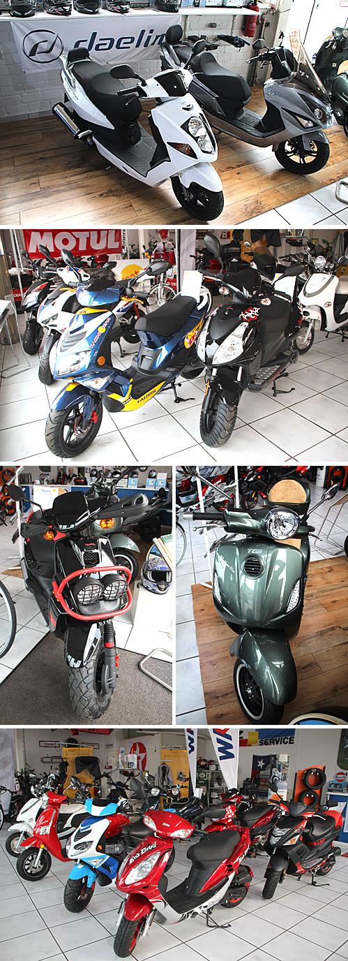 """Bereits seit 1995 ist Kfz-Meister Robin Conrad selbständig - zu Beginn als Suzuki-Händler und seit 2001 als Fachunternehmen für Motorroller aller Marken unter der Bezeichnung """"Scooter-Point""""."""