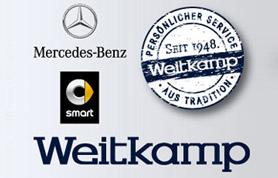 1948 begann Friedrich Weitkamp mit der Reparatur von Fahrrädern und Nähmaschinen, im Zuge der Nachkriegsentwicklung dann auch von Motorrädern und Personenwagen. 1963 wurde das Autohaus Weitkamp Mercedes-Benz Vertragswerkstatt.