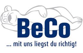 Als innovatives Familien-Unternehmen steht die BeCo Matratzen GmbH & Co. KG mit Sitz an der Daimlerstraße 16 in Lübbecke für Betten & Co - für Gesundes im schönen Bett! Über 60 Jahre Erfahrung auf dem Gebiet der Entwicklung, Produktion und dem Vertrieb von      Lattenrosten     Matratzen und     Betten  machen BeCo zu einem äußerst qualitätsbewussten Hersteller und kompetenten Berater rund ums Thema Schlafen und einen gesunden Schlafkomfort.