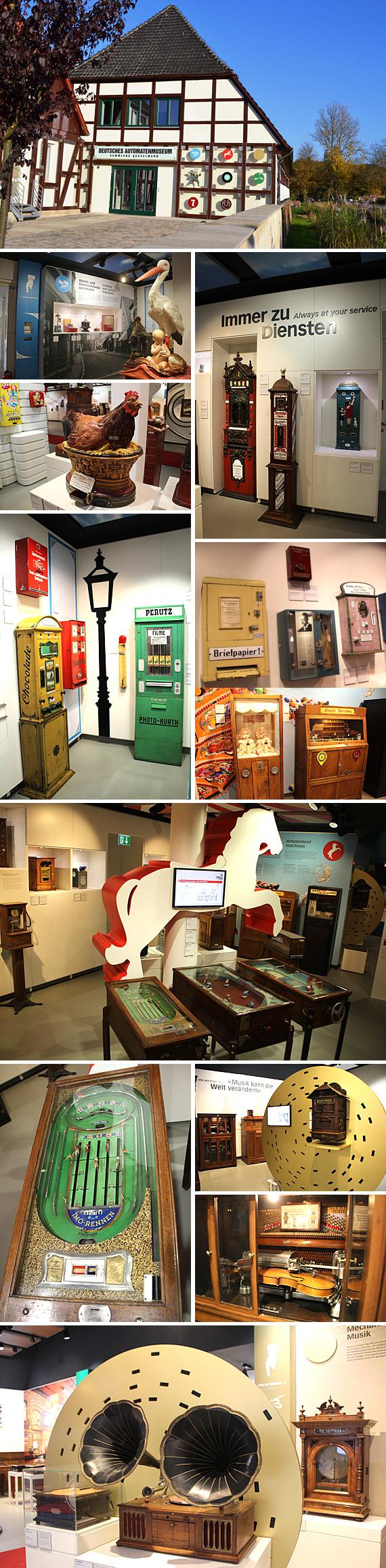 Das Deutsche Automaten Museum ist eine, seit 1985 wachsende, weltweit einzigartige private Sammlung historischer Münzautomaten der Unternehmerfamilie Gauselmann