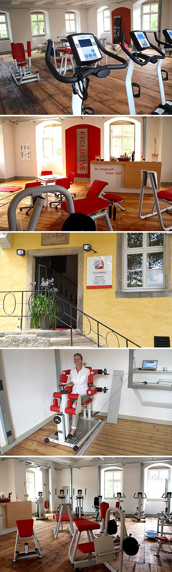 """""""Exklusive - Medizinisches Fitnesstraining"""" bietet auf rund 230 Quadratmetern im Obergeschoss der nach modernsten Gesichtspunkten renovierten Räume im geschichtsträchtigen Lübbecker Burgmannshof Reha-Sport"""