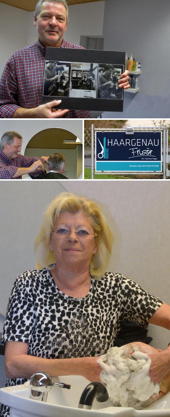 Hartmut Tappe ist ein Barbier der Extraklasse und weit über seinen Geschäftsstandort an der Fiesteler Straße 71a in Lübbecke-Alswede bestens bekannt.  Das Frisör-Handwerk erlernte Hartmut Tappe in drei Jahren bis 1970 bei Albert Schrödter in Lübbecke in der Tonstraße. Auch nach der Gesellenprüfung 19070 blieb Hartmut Tappe über viele Jahre der Bierbrunnenstadt treu und erinnert sich gern an die Zeit, als er noch in Diensten von Willi Sievert stand.
