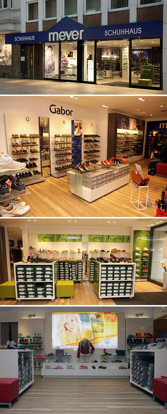 """""""Trendige Schuhmode, die zu Ihnen passt"""", finden Sie im Schuhhaus Meyer, der Adresse für hochwertige und moderne Damen-, Herren- und Kinderschuhe in Lübbecke, Lange Straße 57."""