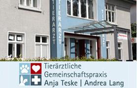 """Wenn Ihr Liebling, egal ob Hund, Katze, Meerschweinchen, Kaninchen oder Hamster, krank ist, sprechen Sie mit der """"Tierarztpraxis Teske & Lang"""", die seit Juni 2009 in der Osnabrücker Straße 11 zu finden ist."""