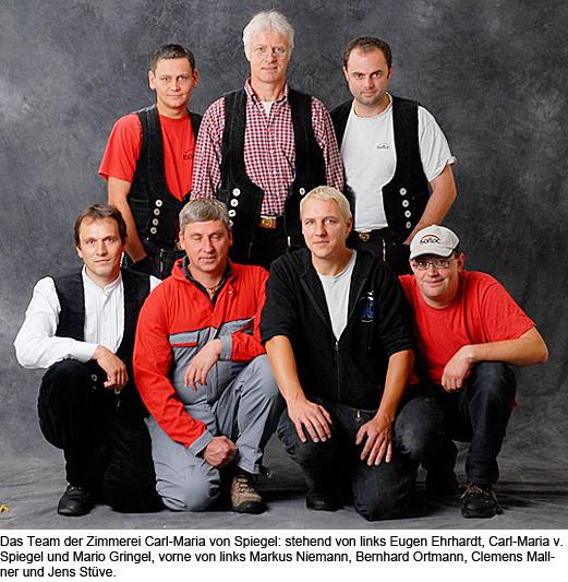 """Seit 1993 existiert die """"Zimmerei Carl-Maria v. Spiegel"""" als eigenständiger Betrieb."""
