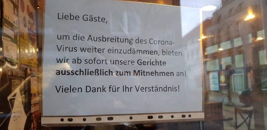 Geschlossene Läden wegen Corona