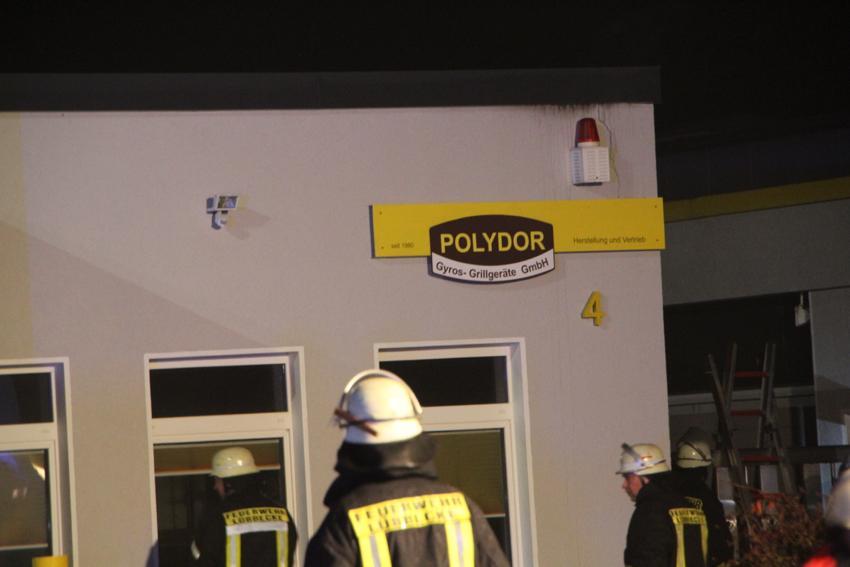 Feuer beim Grillgerätehersteller Polydor in Lübbecke
