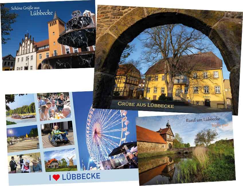 Ab sofort sind die verschiedenen Karten bei Lübbecker Büro‐ und Schreibwaren und in der Bücherstube erhältlich.