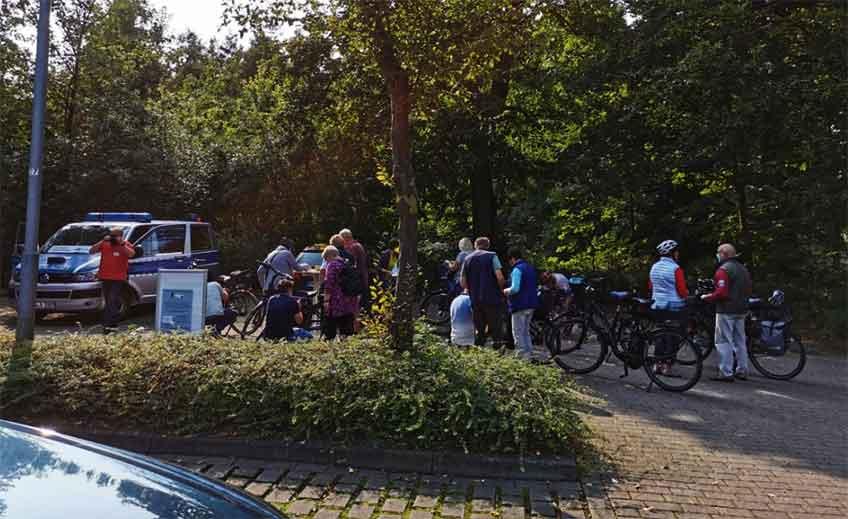 Insgesamt 388 Räder, darunter viele E-Bikes, registrierten die Beamten.