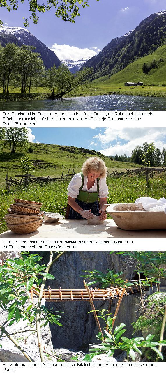 Ruhe- und Erholungsuchende fühlen sich im österreichischen Raurisertal im Herzen des Nationalparks Hohe Tauern besonders wohl.
